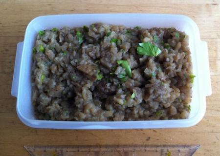 Greek eggplant salad (Melitzanosalata)