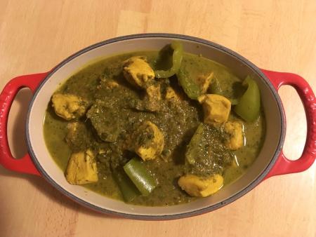 Green Chicken Jalfrezi